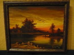Abendstimmung Am See Von Ganynik (707) - Oils