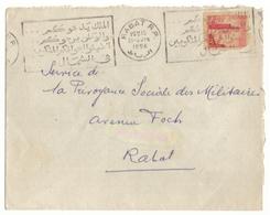 Lettre Maroc 1956. Timbre. Joli Cachet De Rabat. 2 Jolies Flammes De Solidarité. - Brieven En Documenten