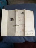 CARTA COM SELO D. MARIA II 25 REIS - 1853 : D.Maria