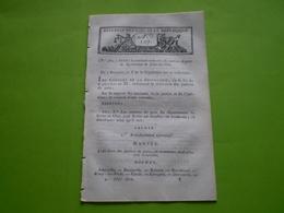 Bulletin Des Lois An X: Bonaparte 1er Consul: Justices De Paix De Seine Et Oise & Lozère Par Arrondissement & Commune - Decrees & Laws