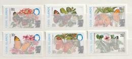 Cook Islands 2003 - Butterfly Definitive - [Surcharge] Overprint Mint 6v - Cook Islands