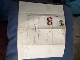 CARTA COM DOIS  SELOS D. PEDRO V 1858 SELOS DE  25 REIS - 1855-1858 : D.Pedro V