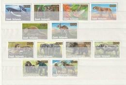 Cook Islands 2001 - Endangered Wildlife - Suwarrow Sanctuary Overprint 12v - Cook Islands