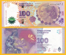 Argentina 100 Pesos P-358b 2016 (Series Z) UNC - Argentina