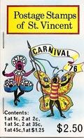 ST VINCENT, 1976, Booklet 4, Carnival - St.Vincent (...-1979)