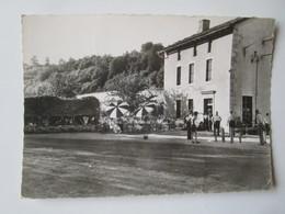 SANSAC De MARMIESSE HOTEL DELBERT JOUEURS DE PÉTANQUE PONT DU LAURENT. BOS 813 Postmarked 1957 - Autres Communes