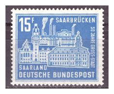 SAAR/SARRE -  1959 - CINQUANTENARIO DI SAARBRÜCKEN. -  MNH** - 1957-59 Federazione