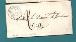 Landes - Peyrehorade Pour La Baronne De Cardenau à Tith. 1847 - Marcophilie (Lettres)