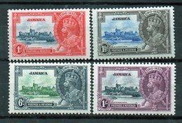 JAMAICA 1935 Giubileo Giorgio V - 4 Francobolli Nuovi In Serie Completa MH /* - Collections (without Album)