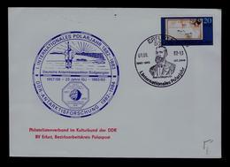 Anee Geophysique Internationale 25th Years IGJ    Int. Polar Year Post Mail DDR Erfurt  1957/58 Antartic 1982/83 Gc3674 - International Geophysical Year