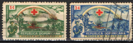 REPUBBLICA DOMENICANA - 1944 - CROCE ROSSA - USATI - Repubblica Domenicana