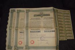 3 X Raffinerie Pétrolière Roumaine 1931 Astra Roumana Capital 2 034 000 000 Lei - Petróleo