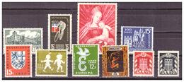 SAAR/SARRE -  INSIEME DI FRANCOBOLLI. ALCUNI CON DIFETTI. -  MNH** - 1957-59 Federazione
