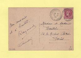 La Chaussee St Victor - Loir Et Cher - 12-8-1946 - Facteur Boitier 1359 - Cachets Manuels