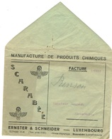 Luxembourg Env,Manufacture Produits Chimiques ( Scarabée) Ernster Schneider; - Privées