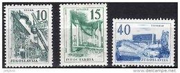 YUGOSLAVIA 1958 Industry 3 Values Mint - 1945-1992 Socialist Federal Republic Of Yugoslavia
