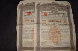 2 X Obligations 125 Roubles Or Consolidées Russes 4 % Des Chemin De Fer 2° Série 1901 - Russia