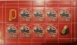 O) 2014 CROATIA, FIRST CART OF CROATIA FIRE FIGHTERS -VATROGASCI, SHEET MNH - Croatia