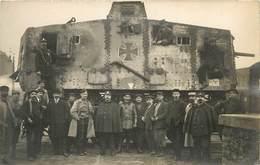 """CHAR ASSAUT ALLEMAND """" EIFRIDE"""" CAPTURE PAR L'ARMÉE FRANÇAISE -OCT 1918- EXPOSE A PARIS (carte Photo) - Guerre 1914-18"""