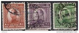 YUGOSLAVIA 1923 King Alexander 1d, 8d, 20d (Krajelvina) Used - 1919-1929 Kingdom Of Serbs, Croats And Slovenes