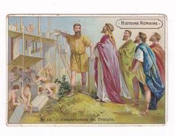 Chromo Chicorée à La Bergère Emile Bonzel, Haubourdin (Nord), Histoire Romaine, N°12, Construction Du Temple - Cromos
