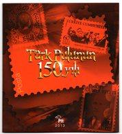 2013 TURKEY 150TH YEAR OF TURKISH STAMPS SPECIAL PORTFOLIO - Nuevos