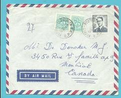 1071+1368 Op Brief Per Luchtpost (avion) Stempel POSTES-POSTERIJEN / B.P.S. 8 Naar CANADA - 1953-1972 Lunettes