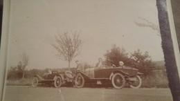 Ancienne Photo De Deux Voitures Anciennes A Identifier : 1914 . - Automobiles