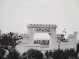 CPSM Bruay En Artois Entrée Du Stade ,  Au Fond Les Tribunes 1949 - Autres Communes