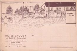 """FLORENVILLE  Publicité Hôtel JACOBY à La Cuisine Années """"30. - Florenville"""
