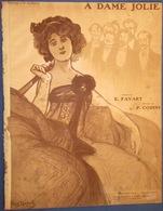 CAF CONC PIANO GF PARTITION A DAME JOLIE FAVART CODINI 1909 ILL POUSTHOMIS MANCEAU - Music & Instruments