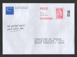 PAP  FONDATION DE FRANCE  Novembre 2018    - Agrément 1182202  -  N° à L'intérieur 123182011SSM / CATELIN YSEULTYZ - Prêts-à-poster: Réponse
