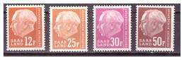 SAAR/SARRE - 1957 - EFFIGIE DEL PRESIDENTE HEUSS. LETTERA F DOPO IL VALORE. -  MNH** - 1957-59 Federazione