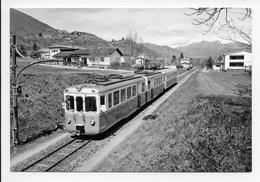 CPM - Train Pour Ponte Tresa, ABe 4/6 11 Et B 34 Quittant Bioggio - Trains