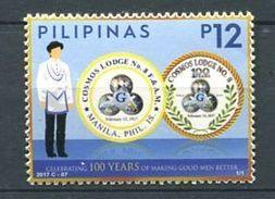 103 PHILIPPINES 2017 - Cosmos Lodge - Masonic Franc Maconnerie Freemasonry Freimaurerei - Neuf ** (MNH) Sans Charniere - Franc-Maçonnerie