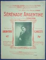 CAF CONC PIANO GF CABARET LGBT CHEZ FYSHER PARTITION SÉRÉNADE ARGENTINE AU PALAIS PERSAN NILSON FYSHER NOCETI 1914 LEHMA - Music & Instruments