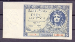 POOL 5 ZLOTI  1930 - Pologne