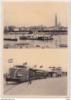ANTWERPEN - Boven : Zicht Op De Reede Van Antwerpen - Onder : Vertrek St Anna Expres Aan Kleine Tunnel - Tram - Antwerpen