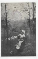 (RECTO / VERSO) FLEUR D' AJONC - N° 1879 - CACHET MILITAIRE - CPA VOYAGEE - France