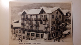 Dolomiti - Cortina D'Ampezzo - Hotel Vittoria, Albergo - Animata - 1939 - Non Viaggiata - Belluno