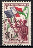 MADAGASCAR - 1959 - IN ONORE DELLA COMUNITA' FRANCESE - USATO - Madagascar (1960-...)