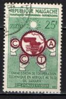 MADAGASCAR - 1960 - COMMISSIONE PER LA COOPERAZIONE TECNICA NELL'AFRICA SUD SAHARIANA - USATO - Madagascar (1960-...)