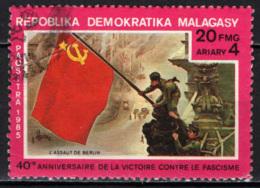 MADAGASCAR - 1985 - VITTORIA NELLA 2^ GUERRA MONDIALE - USATO - Madagascar (1960-...)