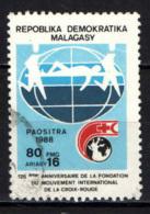 MADAGASCAR - 1988 - CROCE ROSSA - 125° ANNIVERSARIO - USATO - Madagascar (1960-...)