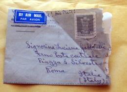 INDIA 1953 AEROGRAMMA VIAGGIATO - Storia Postale