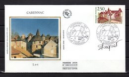 """"""" CARENNAC """"  Sur Enveloppe 1er Jour SIGNEE De 1991. N° YT 2705 Parfait état. FDC - Sonstige"""