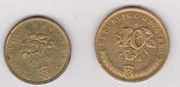 1999 Croazia - 5 E 10 Lipa (circolate) Fronte E Retro - Croazia