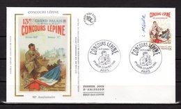 """"""" CONCOURS LEPINE """"  Sur Enveloppe 1er Jour SIGNEE De 1991. N° YT 2694 Parfait état. FDC - Sonstige"""