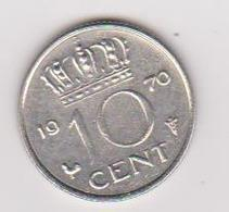 1970 Olanda - 10 Cts (circolate) Fronte E Retro - [ 3] 1815-… : Regno Dei Paesi Bassi