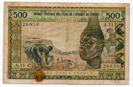 500 BURKINA-FASO Très Rare Signature - Burkina Faso